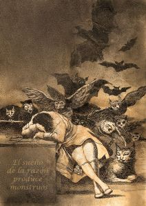 Goya's The Sleep of Reason Produces Monsters